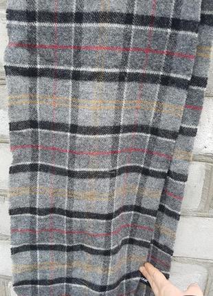 Стильный мягкий шерстяной шарф barbour