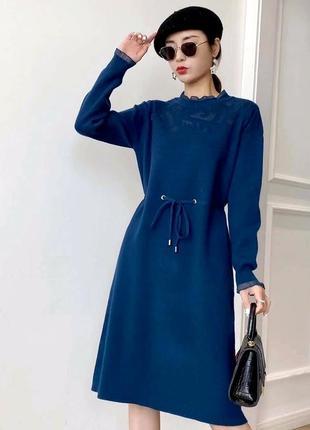 Плотное,вязаное,нарядное трикотажное платье,р. 44 - 46