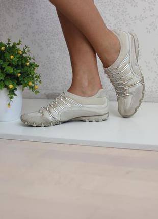 Кожаные замшевые кроссовки, бренд skechers оригинал 39-40