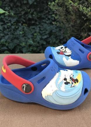 Детские босоножки (сандалии,тапочки) crocs ( крокс 23-24рр 14см оригинал разноцветные)