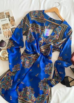 Красивенное платье в этно стиле missguided р.14