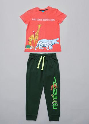 Спортивный костюм для мальчика ( футболка и штаны ) р.128