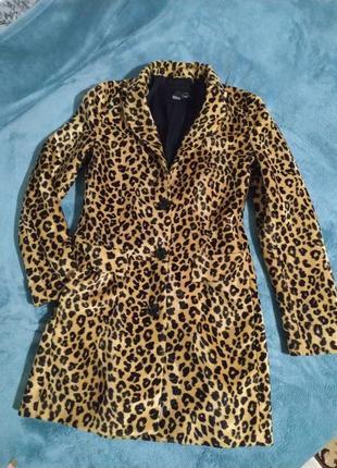 Кардиган пальто леопард
