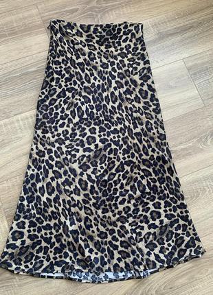 Юбка леопардовая h&m