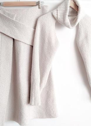 Шерстяная юбка в комплекте с манишкой , cos