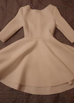 Волшебное белоснежное платье клёш