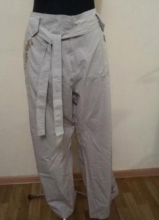 Хлопковые брюки вышитые бисером.3xl состояние новых