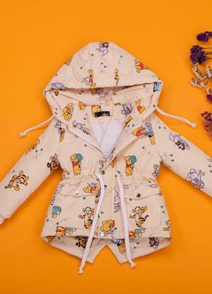 Детская демисезонная парка куртка