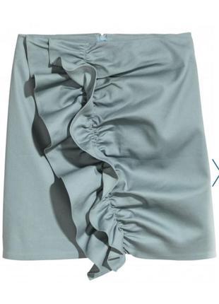 Короткая юбка карандаш с рюшем, возможно на высокий рост,батал