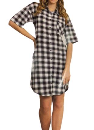 Халат-рубашка женский  vienetta турция m,l,xl,2xl