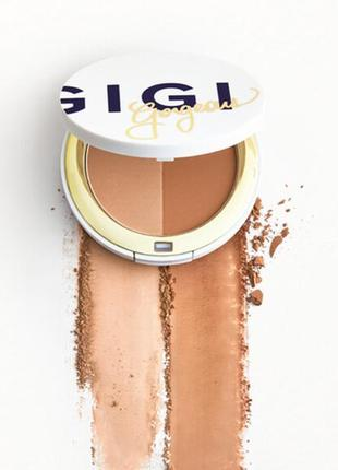 Скульптурирующий бронзер gigi gorgeous the sick sculpt bronzer duo turnt extra 7.8 г