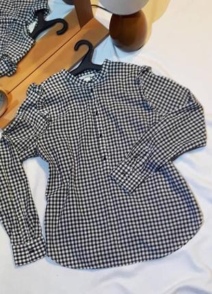 Хлопковая рубашка в клетку от h&m, размер s.