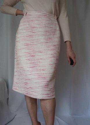 Роскошная юбка миди в стиле шанель твид букле chanel
