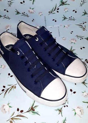 🌿1+1=3 фирменные темно-синие мужские кроссовки кеды crosshatch оригинал, 43 размер, новые