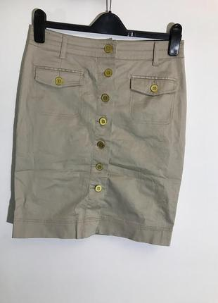 Женская короткая юбка h&m (эйч энд эм мрр идеал оригинал бежево-золотистая)