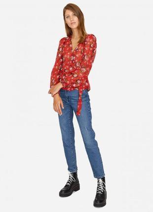 Шифоновая блуза в цветочек stradivarius s