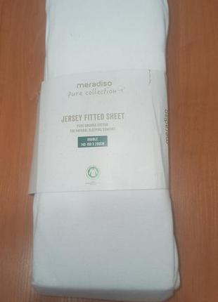 Простыни на резинке хлопок состав евро 140-160х200 наматрасник meradiso