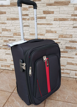 Дорожный тканевый чемодан на двух колесах fly 1706 размер xs