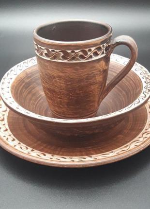 Набір  тарілка миска чашка