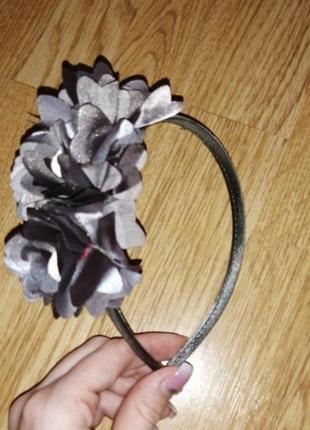 Обруч ободок на девочку с цветами