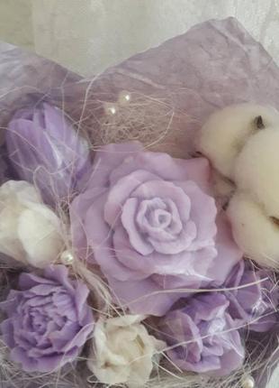 Букет з мильних ароматних квіточох