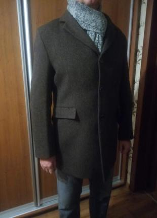 Элегантное мужское шерстяное пальто abrams, р.56