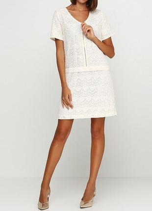 Дизайн франция! распродажа! лучшая цена!  кружевное кремовое платье la redoute.
