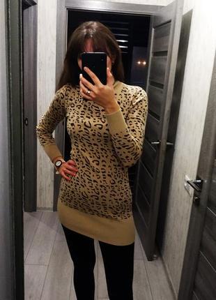 Гольф туника платье свитер