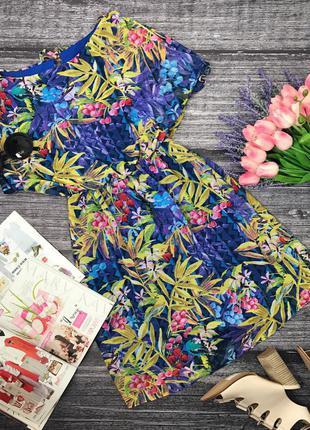 Игривое платье в яркий растительный принт  dr39035  atmosphere