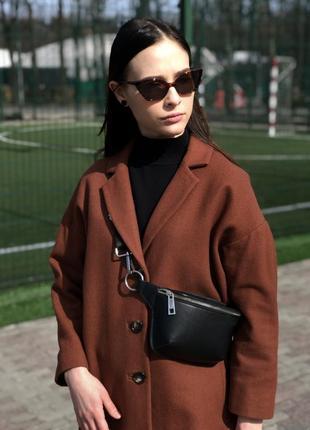 Шерстяное красивое пальто оверсайз от topshop