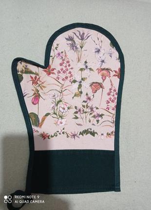Большая красивая декоративная кухонная рукавица прихватеа хлопок 💯 magenta