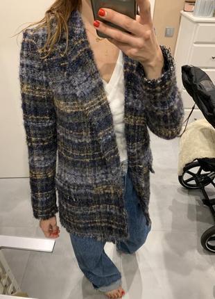 Шерстяной пиджак massimo dutti