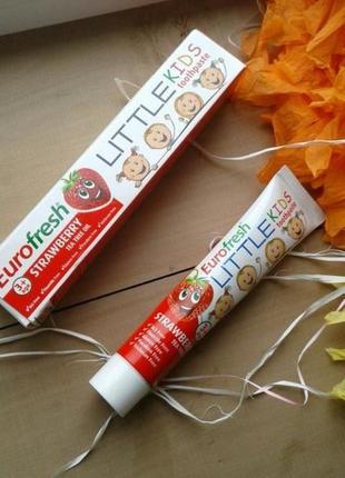 Самая безопасная детская зубная паста зубна паста eurofresh little kids