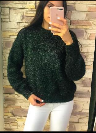 Красивый изумрудный свитерок