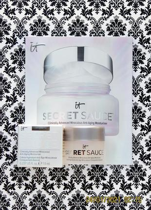 Антивозрастной крем it cosmetics secret sauce advanced anti-aging moisturizer 7 мл