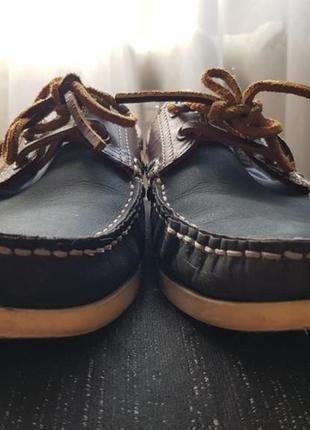 Скидка брендовые синие топсайдеры туфли мокасины на шнуровке 41 размер next