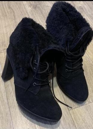 Натуральные замшевые туфли ❄️зима 40р