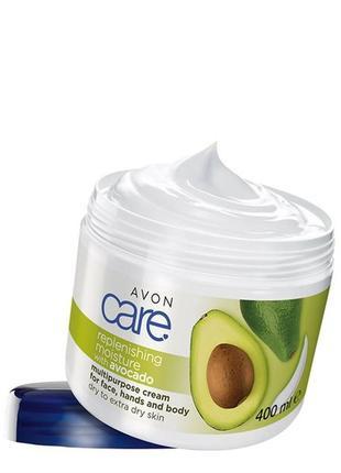 Зволожувальний мультифункціональний крем для обличчя, рук і тіла з олією авокадо (400 мл)
