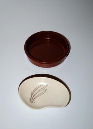 Набор комплект блюдца cermer испания  тарелка для окунания и старинная маленькая англия