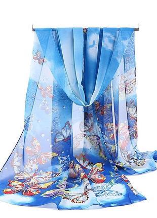 2 легкий шифоновый шарф
