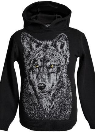 """Худи кофта свитер для мальчика """"волк""""."""