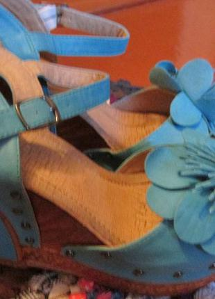 Босоножки. бирюзовые босоножки, босоножки на платформе