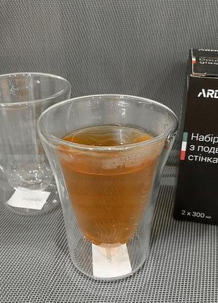 Набор чашек с двойными стенками ardesto
