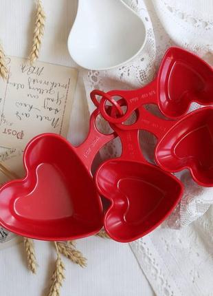 Очень милый набор мерных ложек в виде сердец от m&s home винтаж