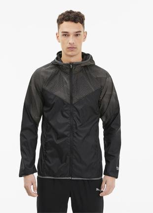 Ветровка последняя коллекция puma ® last lap men's graphic jacket