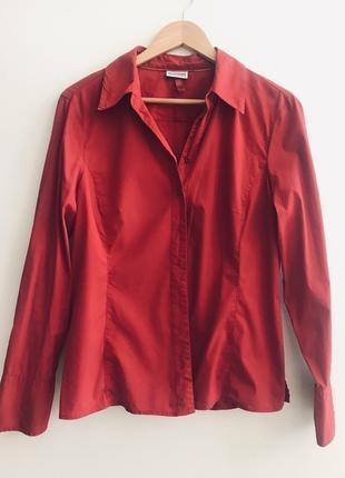 Красная рубашка steeet one p.42 sale❗️❗️❗️black friday❗️❗️❗️