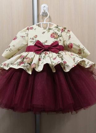 Платье  красивое нарчдное для девочки