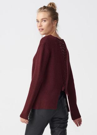 Бордовий светр, бордовийый свитер dilvin