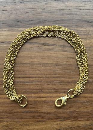 Браслет цепочки золотой