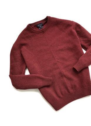 Фирменный тёплый шерстяной свитер джемпер mc earl шерсть